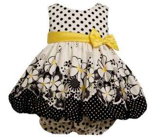 Bonnie Jean Baby Girls Polka Dot Flower Spring Summer Easter Dress 24M