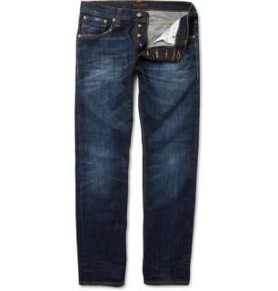 Nudie Jeans Average Joe Straight Leg Washed Jeans  MR PORTER