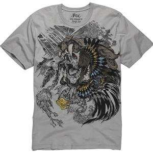 Fox Racing Shaman T Shirt   X Large/Light Grey Automotive