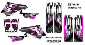 Yamaha Banshee 350 ATV Graphic Sticker Kit #7777 HOT PINK