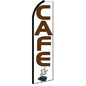Cafe Extra Wide Swooper Feather Business Flag Office