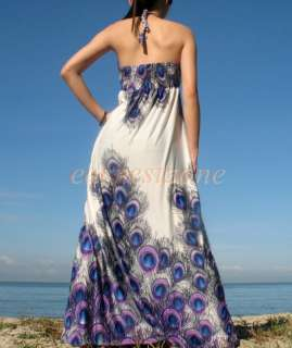 Party Formal Peacock Plus Size Long Prom Cocktail Maxi Dress 2X