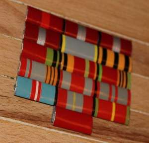 USSR 16 Ribbon Bar WWII Russian Military Uniform insignia Soviet Medal
