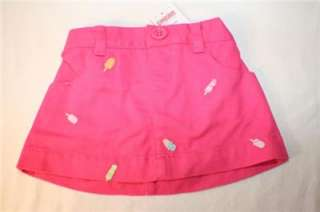 Gymboree Popsicle Party Skort Shorts Capris Hair Clips 3 6 12 18M NWT
