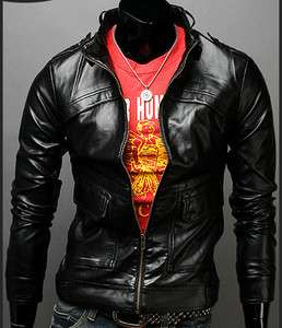 mens leather jackets slim fit young fashion US Size XS, S, M