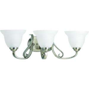 Lighting Torino Collection Brushed Nickel 3 light Vanity Fixture