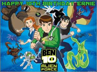 A4 Personalised Ben 10 Icing Cake Top Topper Ten Icing