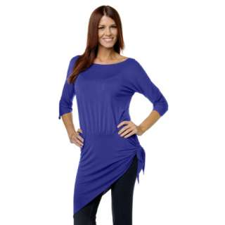 IMAN Global Chic Flatter Yourself Asymmetrical Stretch Shirt