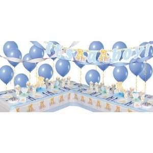 Blue Precious Bear Baby Shower Party Supplies Deluxe Party Kit  Toys