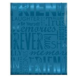MCS 100 Pocket Big Max Embossed Friends Album, Teal Blue
