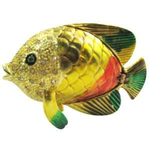 fish   Bejeweled Swarovski Crystal diamond Jewelry Trinket Box