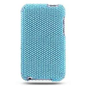 APPLE IPOD TOUCH 2 FULL DIAMOND PROTECTOR CASE   AQUA BLUE