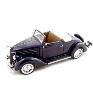1936 Ford Deluxe Cabriolet Blue 118 Diecast Model Car Toys & Games