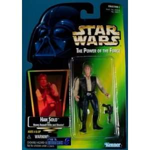 Star Wars Power of the Force Han Solo Green Card Figure