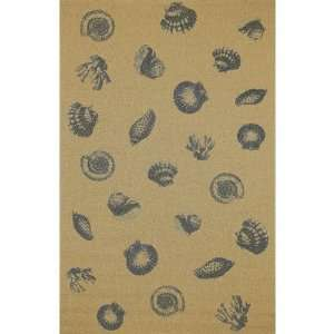 Tropez Sea Shell Blue Indoor / Outdoor Rug Size 411 x 7