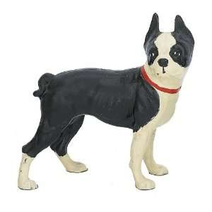 Cast Iron Standing Boston Terrier Dog Door Stop Doorstop