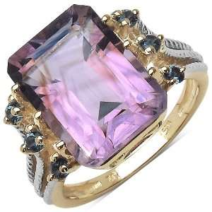 70 ct. t.w. Amethyst and London Blue Topaz Ring in Sterling Silver