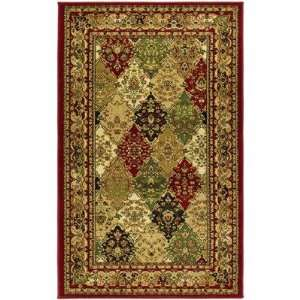Collection LNH221B Multicolor Area Rug, 3 Feet 3 Inch by 5 Feet 3 Inch
