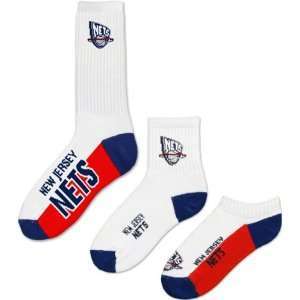New Jersey Nets Mens 3 Pair Sock Pack