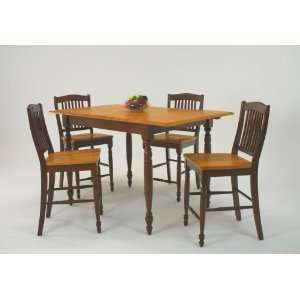 pc Casual Home Counter Height Leg Table Dining Set by GS Furniture
