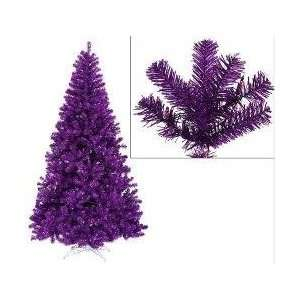 Pre Lit Purple Artificial Sparkling Christmas Tree   Purple Lights