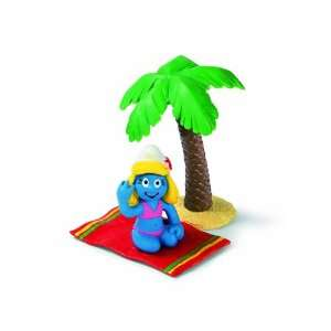 The Smurfs Smurfette on Beach Pvc Figure Mib Toys & Games