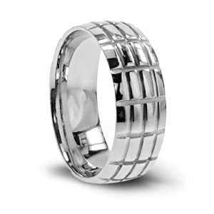 316L Stainless Steel ring with high polish   Size 11