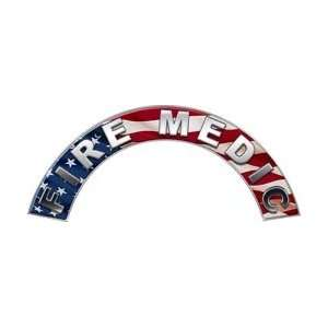 Fire Medic American Flag Firefighter Fire Helmet Arcs / Rocker Decals