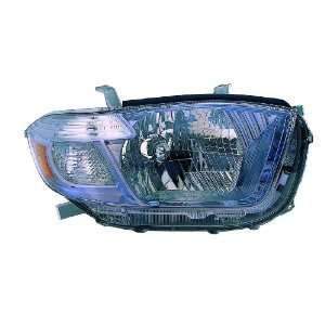 Toyota Highlander Passenger Side Replacement Headlight Unit without
