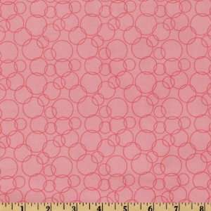 44 Wide Having A Baby Circles Pink Fabric By The Yard