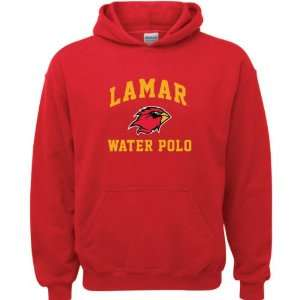 Lamar Cardinals Red Youth Water Polo Arch Hooded