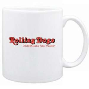 Rolling Dogs  Staffordshire Bull Terrier  Mug Dog