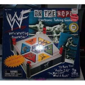 Wwf on the Ropes Electronic Talking Game  Toys & Games