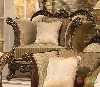 Formal Antique Style Luxury Sofa, Love Seat, Chair & Tables 5 Piece