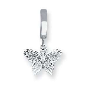 14K White Gold Filagree Butterfly TummyToy Belly Ring